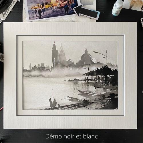 Cours d'arts en ligne Roland Palmaerts Nuances de noir et blanc