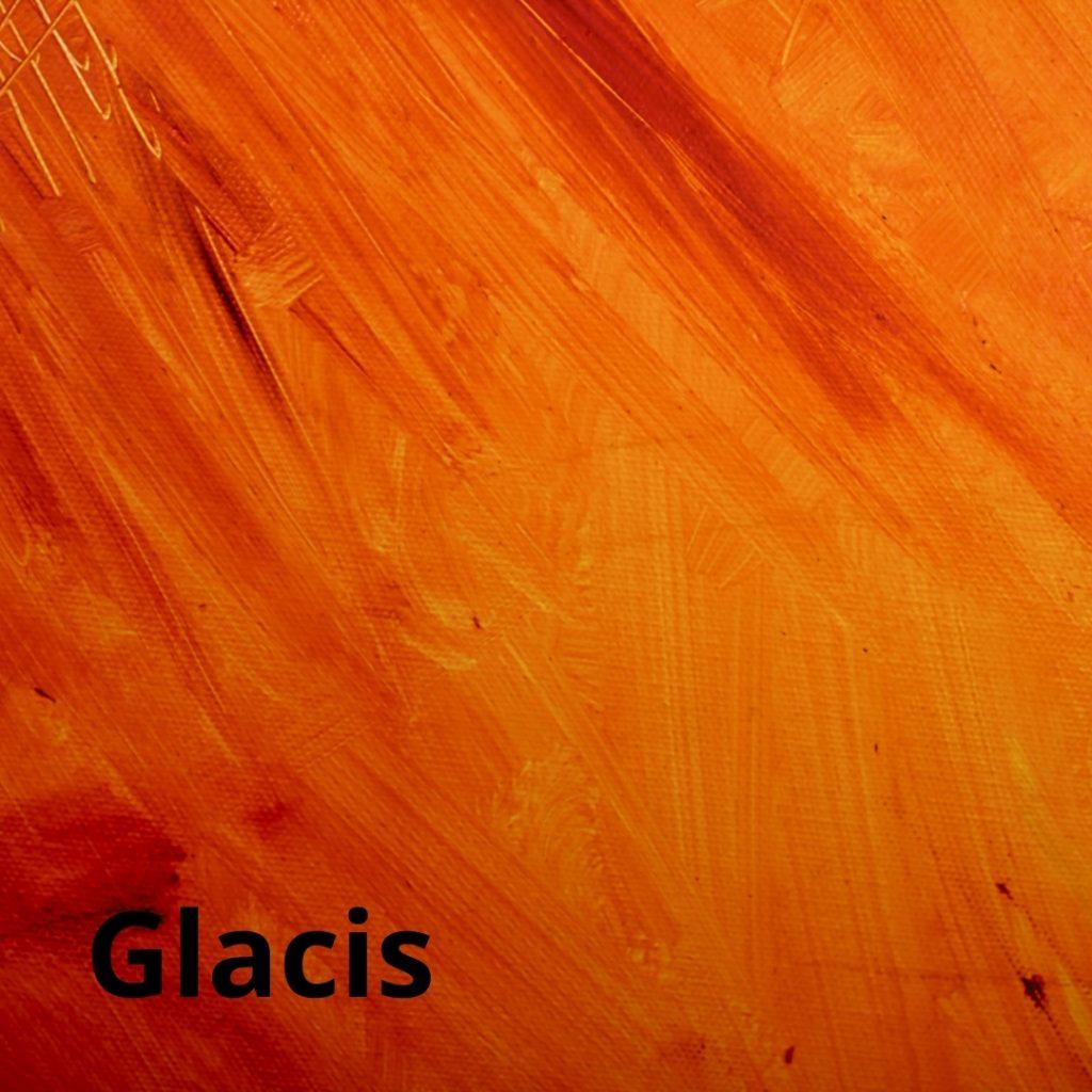 Glacis en peinture acrylique
