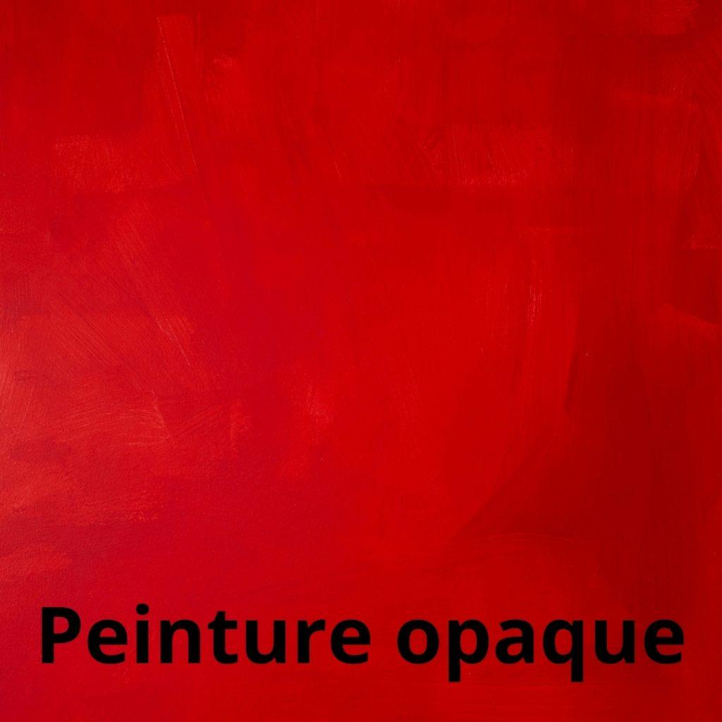 Aplats opaque, peinture opaque en peinture acrylique