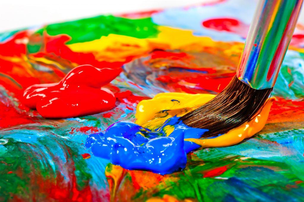 Peinture acrylique sur fond humide
