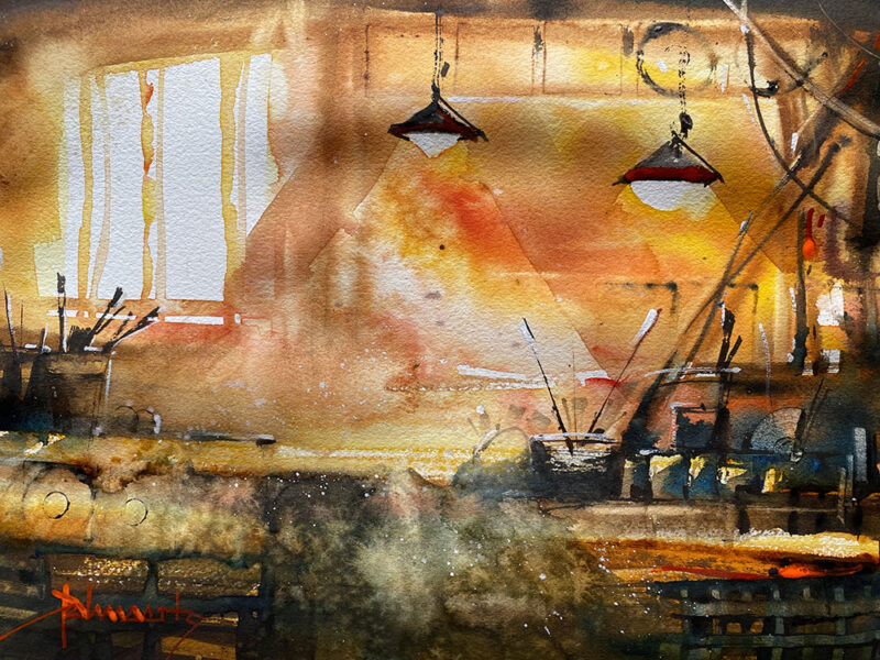 Cours d'arts en ligne Roland Palmaerts Au garage