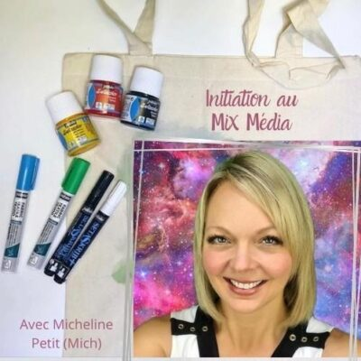 Cours d'arts en ligne Mich Petit Initiation au Mix Média