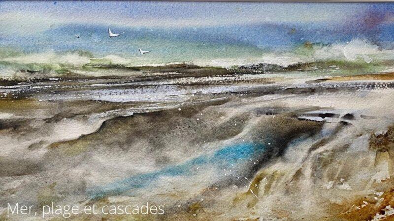 Cours d'arts en ligne Roland Palmaerts Mer, plage et cascades