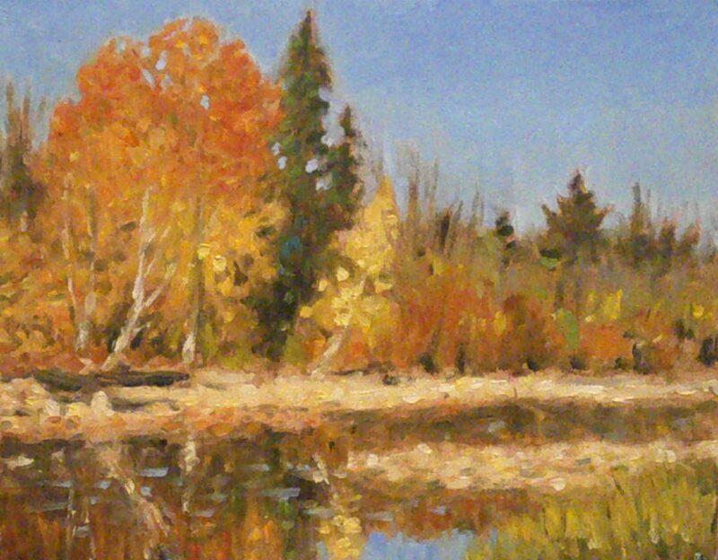Cours d'arts en ligne Stéphane Gagnon Paysage d'automne