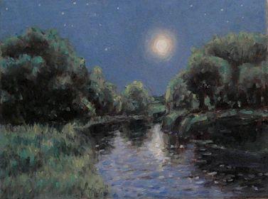 Cours d'arts en ligne Stéphane Gagnon Paysage de nuit