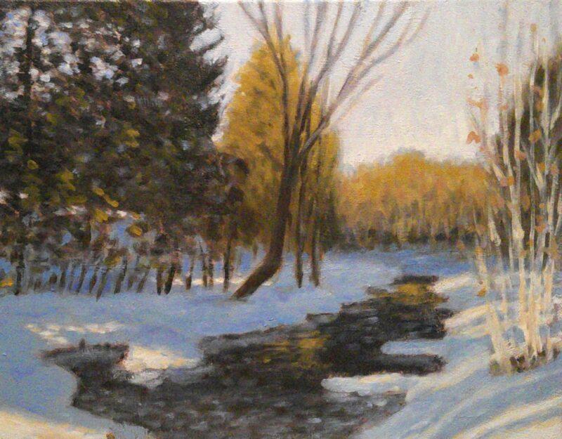 Cours d'arts en ligne Stéphane Gagnon Paysage d'hiver
