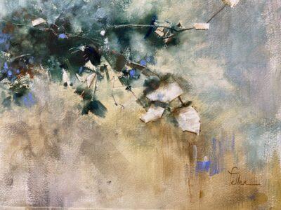 Cours d'arts en ligne Odette Feller Floraison contemporaine