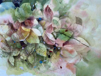Cours d'arts en ligne Odette Feller Travail en négatif