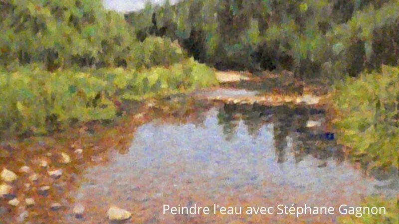 Cours d'arts en ligne Stéphane Gagnon Transparence de l'eau