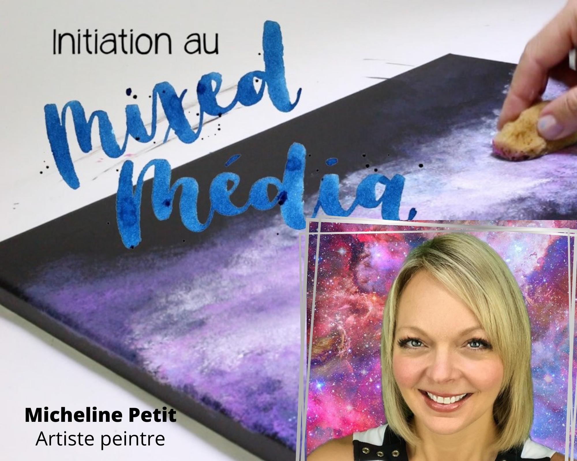 Cours de Mix Média en ligne avec Micheline Petit