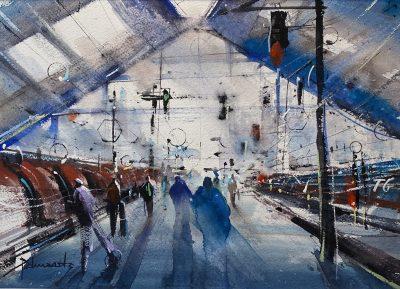 Cours d'arts en ligne Roland Palmaerts En gare de Paris