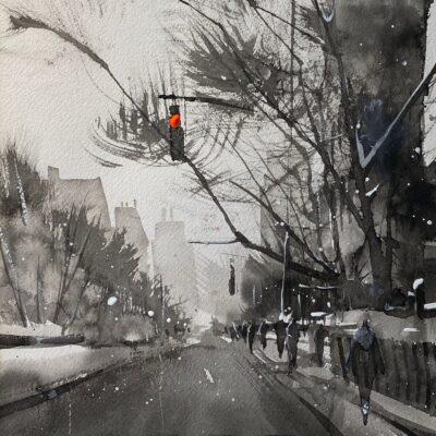Cours d'arts en ligne Roland Palmaerts Champ de bataille en noir et blanc