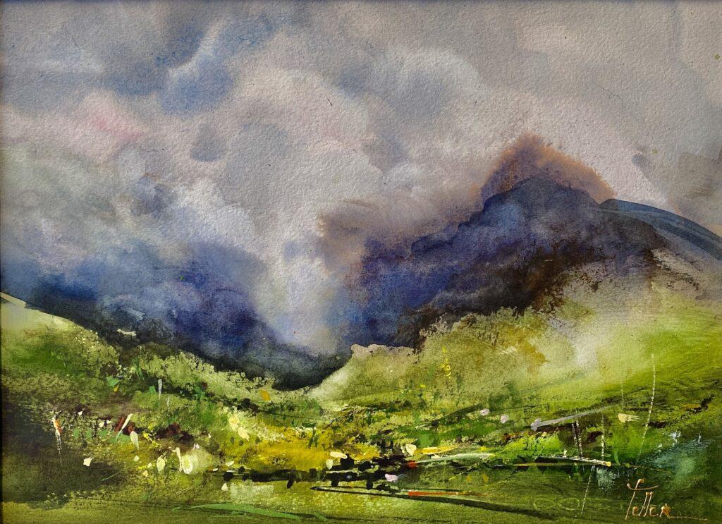 Nuage en montagne avec Odette Feller cours en ligne