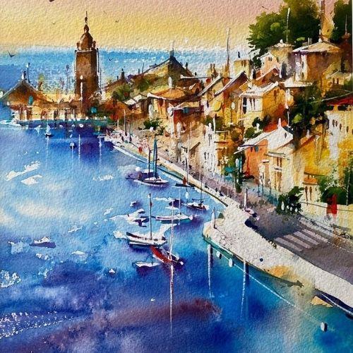 Cours d'arts en ligne Roland Palmaerts Un air de vacances