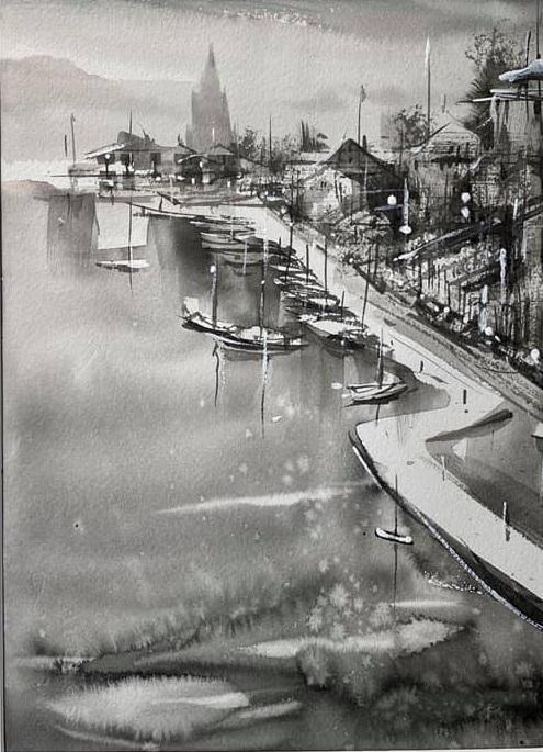 Un air de vacances en noir et blanc, cours en ligne avec Roland Palmaerts