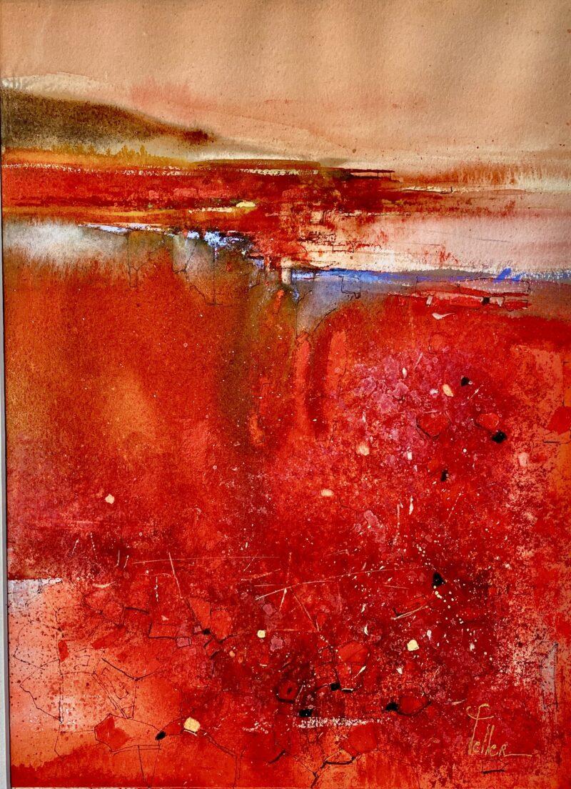Cours d'arts en ligne Odette Feller Rêve rouge