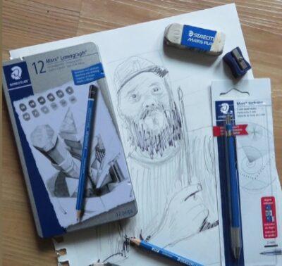 Cours d'arts en ligne Marcel Gagnon Le portrait au crayon