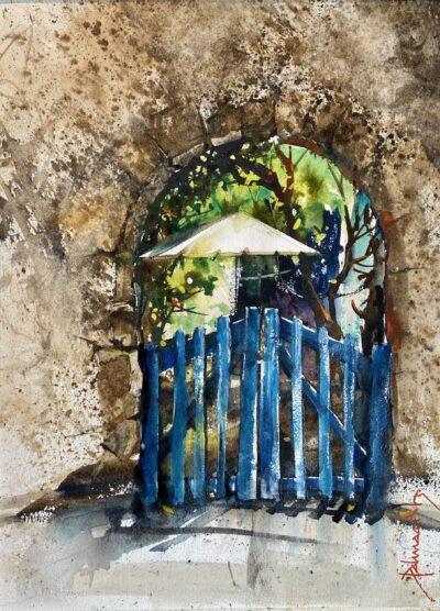 Cours d'arts en ligne Roland Palmaerts La porte bleue