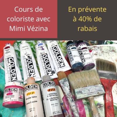 Cours d'arts en ligne Mimi Vézina Cours de coloriste